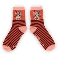 Powder Floral Pussy Specs Ankle Socks