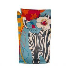 Powder Floral Zebra Neck Scarf