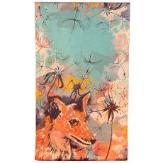 Powder Luxurious Fox Print Scarf