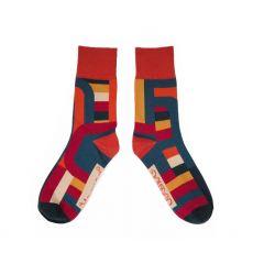 Powder Gents Teal Stripe Socks