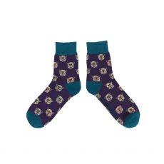 Powder Gents Westie Purple Socks