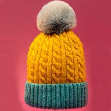 Powder Greta Mustard & Teal Hat