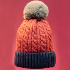 Powder Greta Rose & Navy Hat