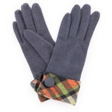 Powder Heather Charcoal Wool Gloves