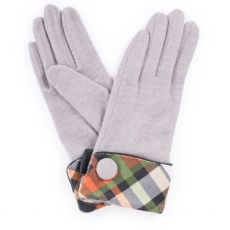 Powder Heather Slate Wool Gloves