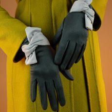 Powder Henrietta Charcoal Gloves