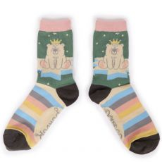 Powder King Bear Ankle Socks