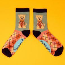 Powder Ladies Argyll Westie Ice Ankle Socks
