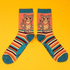 Powder Ladies Cocktail Cat Ankle Socks