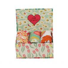 Powder Ladies Country Garden Mint Sock Box Set