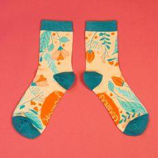 Powder Ladies Delicate Floral Ice Socks