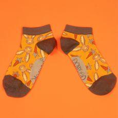 Powder Ladies Hare & Carrot Trainer Socks