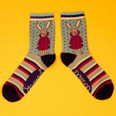 Powder Ladies Puffa Jacket Bunny Ankle Socks
