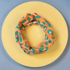 Powder Leopard Coral & Teal Multiway Band