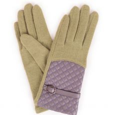 Powder Lizzy Wool Pea Green Gloves