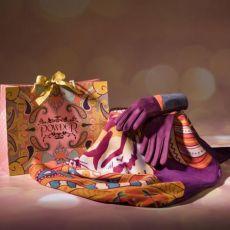 Powder Maharaja Scarf & Ziggy Gloves Plum