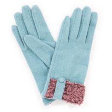 Powder Monica Wool Ice Gloves