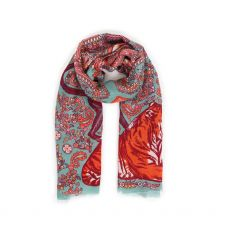 Powder Paisley Tiger Print Scarf