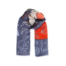 Powder Scandi Fox & Hare Scarf