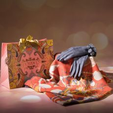Powder Stag Silhouette Scarf & Amelia Gloves