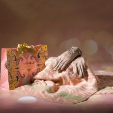 Powder Tabitha Scarf & Genevieve Gloves