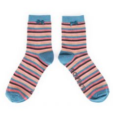 Powder Stripe Ankle Socks