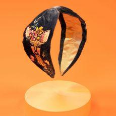 Powder Velvet Floral Doe Embroidered Headband