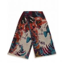 Powder Watercolour Mr Fox Print Scarf