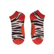 Powder Zebra Print Trainer Socks