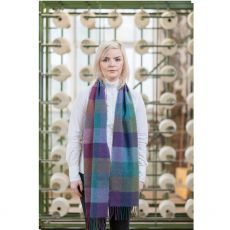 Foxford Purple/Green Merino Scarf