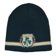 Ireland Shamrock Crest Knit Hat