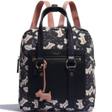Radley Dotty Dog Medium Ziptop Backpack Black