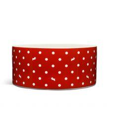 Radley Red Polka Dot Dog Bowl