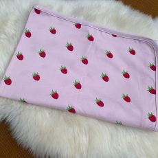 Stork & Co Raspberry Organic Cotton Blanket