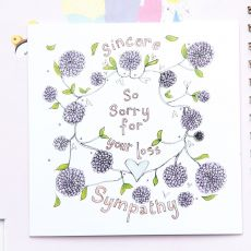 Ruby Doodle Sincere Sympathy So Sorry For Your Loss Card mood