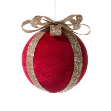 Red Ball with Bow Ornament