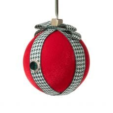 Red Ball with Gift Ribbon Decoration