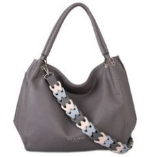 Red Cuckoo Grey Slouch Bag