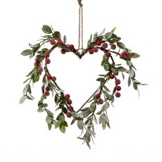 Red Mistletoe Heart