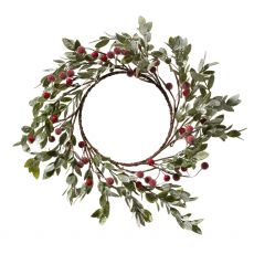 Red Mistletoe Wreath