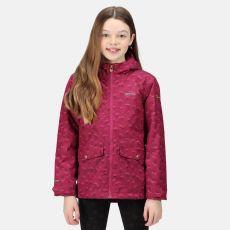Regatta Kids' Bixby Waterproof Jacket Raspberry