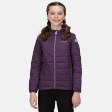 Regatta Kids' Helfa Insulated Hooded Jacket Purple