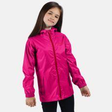 Regatta Kids' Pack It Waterproof Packaway Jacket Pink