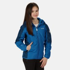 Regatta Kids Volcanics Blue Waterproof Jacket
