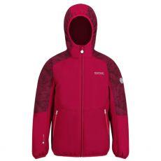 Regatta Kids Volcanics Cerise Waterproof Jacket front