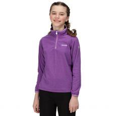 Regatta Kids' Loco Half Zip Purple Fleece