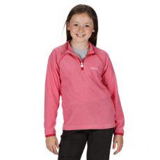 Regatta Loco Kids Pink Fleece kid wearing the fleece model the arms