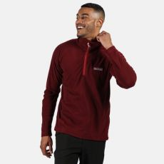 Regatta Montes Gents Half Zip Red Fleece