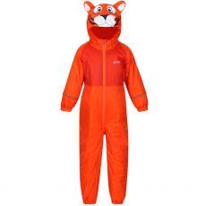 Regatta Kids' Mudplay III Waterproof Puddle Suit Orange Tiger
