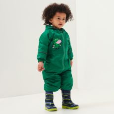 Regatta Peppa Pig Waterproof Puddle Suit Green Dinosaur